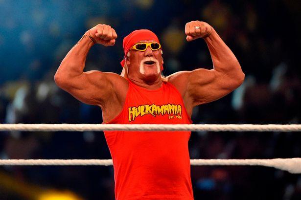Hulk Hogan wearing his own merchandise
